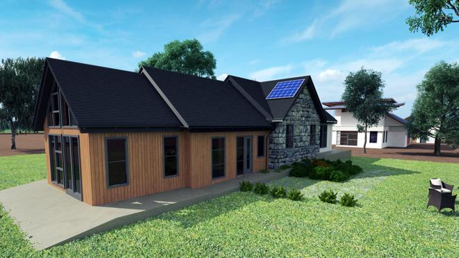 Artists impression of exterior of house build
