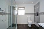 Large, modern en suite shower room
