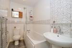 Bathroom with an overbath