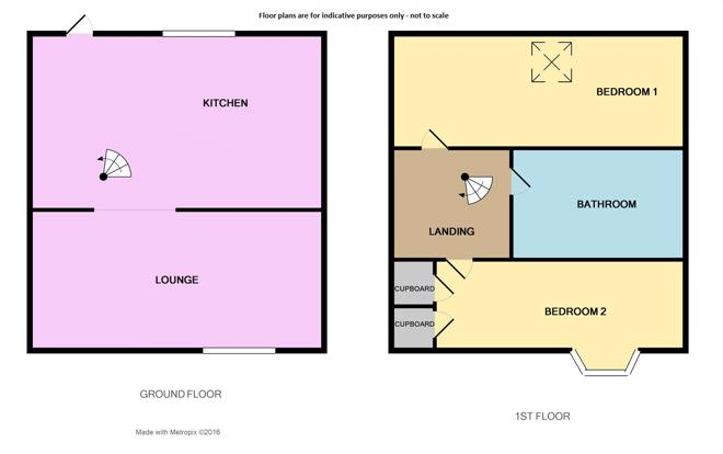 Floor plan not to scale.