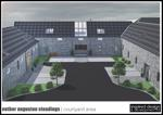 artists impression of courtyard