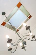 Upper Hall Stained Glass Ceiling Light