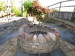 Seating area with focal fire pit
