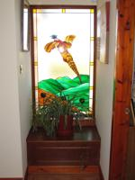 Stain glass window feature